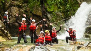 Campamentos multiaventura descenso barrancos